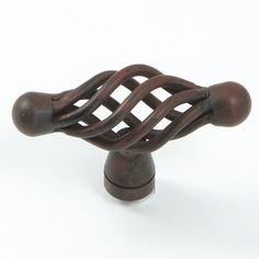 Stone Mill Hardware Rustic Antique Berkshire Birdcage Cabinet Knob