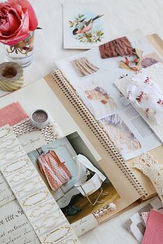 Book of dreams... Vision board... a collection of pretty things