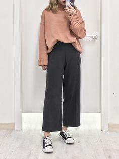 Ideas Fashion Style Hijab Pants For 2019 – Hijab Fashion Korean Girl Fashion, Ulzzang Fashion, Korean Street Fashion, Asian Fashion, Look Fashion, Sneakers Fashion Outfits, Kpop Fashion Outfits, Hijab Fashion, Casual Outfits