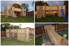 A children playhouse made entirely from recycled pallets!