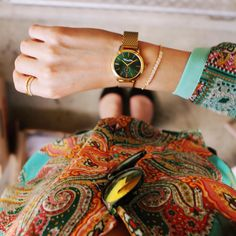 Paisley + Green THOMAS SABO watch. A combination to fall in love with.