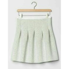 Gap Scuba Skirt Super cute Gap skirt in heather grey color. It's ridiculously soft and comfortable unfortunately it's a little too big for me. Brand new with tags! GAP Skirts