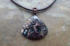 Ocean Jasper Tree of Life Pendant Yggdrasil by LadearJewellery