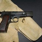 BROWNING HI-POWER SEMI-AUTOMATIC PISTOL & HOLSTER   Militaria   WARSTUFF Find our speedloader now!  www.raeind.com  or  http://www.amazon.com/shops/raeind