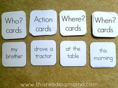 adapting the writing sentences activity without cubes