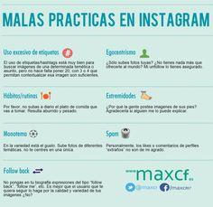 Malas prácticas en Instagram #infografia #infographic #socialmedia
