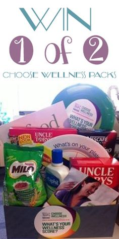 Win 1 of 2 Choose Wellness Packs Giveaway, Health Fitness, Packing, Wellness, Bag Packaging, Fitness, Health And Fitness