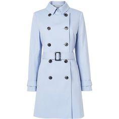L.K. Bennett Boston Trench Coat , Powder Blue