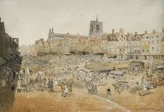 John Sell Cotman, The Market Place, Norwich taken from Mr Coopers. 1807. Abbot Hall Gallery Kendal.