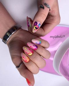 Easy to try nail trends, look here is enough - Page 134 of 140 - Inspiration Diary Crazy Nails, Love Nails, Pretty Nails, Fabulous Nails, Perfect Nails, Bling Nails, Swag Nails, Almond Nails Designs, Nail Designs