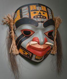 """""""Shaman"""" - by artist Lonnie Acord - Northwest Coast Mask"""