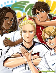 FIFA World Cup 2014 Group G: Ghana, Germany, Portugal, and the USA - Art by ctcsherry.tumblr.com