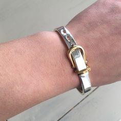 Belt bracelet Belt bracelet size small not sure what type of metal it is it's a little scratched but in pretty good condition. Very cute! Jewelry Bracelets