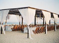 wedding beach reception