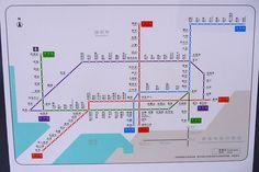 Metro subway map shenzhen city china