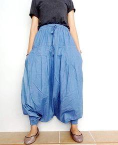 Pantaloni Harem seta patchwork Hippy Boho Aladino Alibaba Genie Yoga Pantaloni Larghi Stile