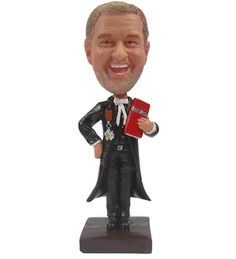 Male in Black Outfit Holding Red Rose and by BobbleheadsEtsyShop, $63.00