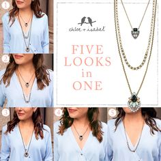 5-in-1C necklace! www.chloeandisabel.com/boutique/katiekinnell