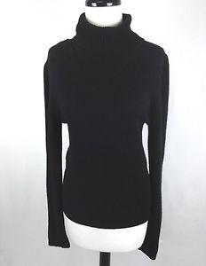 Beth Bowley Sweater Cashmere Knit Black Turtleneck Luxury Layers Womens L | eBay