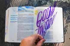 I love Bible journaling. I've written about it before on this blog, and am also part of a Facebook group where people share their sketches and creations to inspire each other. It is through that community that I became inspired to use transparent projector sheets in my Bible. I don't feel comfortable covering up the actual words of the Bible with pen or marker, but the transparent sheets allow me to get creative without impeding my ability to do Bible study on that page later. Bible…