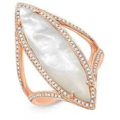 14kt rose gold mother of pearl diamond celeste ring (6.335 BRL) ❤ liked on Polyvore featuring jewelry, rings, rose gold jewelry, rose gold ring, rose gold jewellery, rose gold diamond jewelry and red gold ring