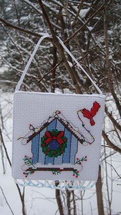 Cross stitching toy for christmas tree