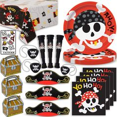 Bring out the fun with these colorful and exciting Pirates party supplies, favors and prizes, great for Pirate Birthday parties or Pirates of the Carabian themed party, it's fun and stylish design is sure to be a hit with all your guests, kids and adults!#partyflavors #gentlemanpirateclub #piratethemed #amazon #piratelovers Pirate Party Supplies, Pirate Party Favors, Themed Parties, Party Themes, Birthday Parties, Pirate Hats, Pirate Theme, Cover Tattoos, Party Giveaways