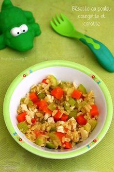 Blésotto au poulet, carotte et courgette (dès 8mois). Un plat complet pour régaler bébé. #diversification #recettebébé #bébé