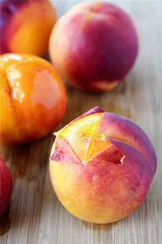 How to peel a peach from @Dara Michalski @cookincanuk