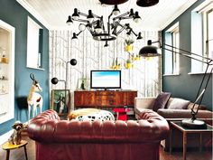 Inside a Masculine Funhouse via @domainehome