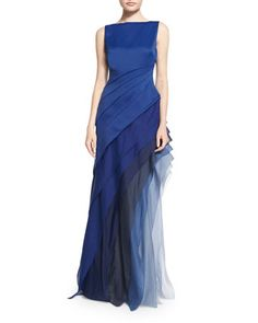 Sleeveless Ombre Tiered Gown  by Halston Heritage at Neiman Marcus.