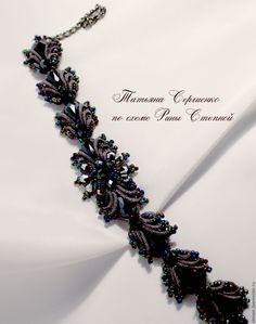 Купить Браслет Саламандра - браслет саламандра, плетеный браслет, браслет фриволите, браслет анкарс