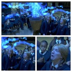 Oh Fred. Or George, I can't tell, and of course Hermione just sits not at all surprised that it didn't work.