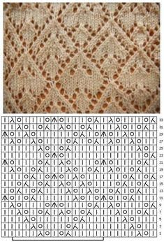 Lace Knitting Stitches, Crochet Stitches Patterns, Knitting Charts, Lace Patterns, Knitting Designs, Stitch Patterns, Loom Knitting, Knit Basket, Knitted Blankets