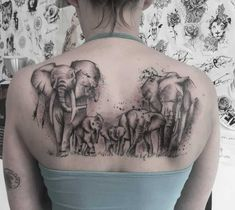 The elephant is considered a symbol of responsibility because it takes great care of its offspring and their elders, thus, an elephant tattoo is a symbol of love for family and encourages protection, strength and strong bonds with loved ones in our lives. Elephant Family Tattoo, Elephant Tattoo Design, Elephant Tattoos, Bild Tattoos, Body Art Tattoos, Small Tattoos, Sleeve Tattoos, Ear Tattoos, Tattoo Hurt