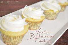 The BEST Vanilla Buttercream Frosting via Love, Pomegranate House