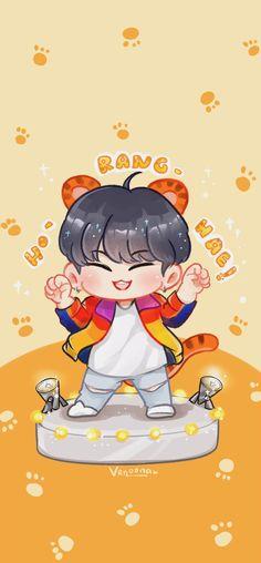 Seventeen Wallpaper Kpop, Seventeen Wallpapers, Chibi Wallpaper, Cartoon Wallpaper, Carat Seventeen, Cool Doodles, Won Woo, Hoshi Seventeen, Cute Chibi