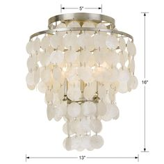 Brielle 3 Light Ceiling Mount by Crystorama Flush Mount Chandelier, Mini Chandelier, Flush Mount Ceiling, Chandelier Lighting, Lighting Shades, Silver Chandelier, Silver Candelabra, Bathroom Chandelier, Dining Lighting