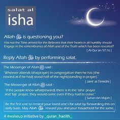 #isha #salah #namaz #virtue #benefits #significance #quran_hadith #islam