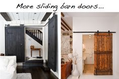 Sliding barn doors now this is now gonna be my front entrance instead of curtains or blinds going over my sliding glass door this is so what i am having !!