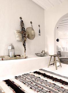 Hôtel de luxe bohème : le San Georgio à Mykonos (http://atelierrueverte.blogspot.fr/)
