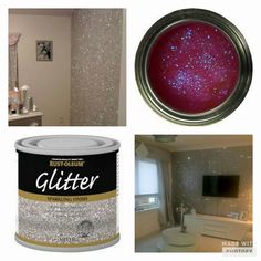 Glitter paint, adult style! This will certainly be a necessity. Couple it with the glitter grout... I need a time machine!