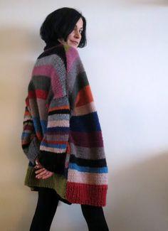 Cardigan Pattern, Crochet Cardigan, Knitted Shawls, Blanket Coat, Coat Patterns, Knitting Accessories, Easy Knitting, Sweater Coats, Crochet Fashion