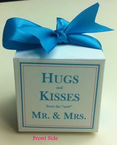 100 personalized favor boxes for under $20! ...Link to Template Works Now... : wedding blue brown candy cheap diy easy favors gifts inspiration pink reception silver teal white Favor Pic 4 Final