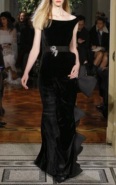 Silk Velvet Column Gown    Alberta Ferretti's P/F17 Collection at Moda Operandi.