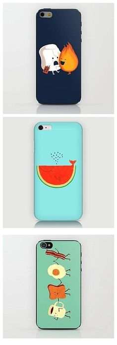 The tastiest phone cases around! Which of these delicious food pattern iPhone shells will you rock? #IphoneCases