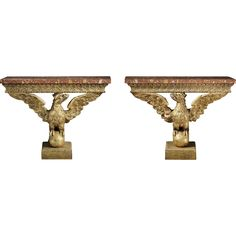 Pair of Eagle Console Tables from clinton-howell on RubyLUX