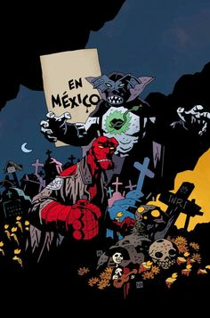 Mike Mignola Comic Book Artists, Comic Books Art, Comic Art, Gothic Games, Mike Mignola Art, Satanic Art, Dark Artwork, Comic Book Superheroes, Biblical Art