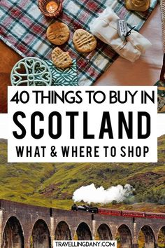 40 neat ideas for Scotland souvenirs for your next trip! Let's see what to buy and where to buy your Scottish gifts, with pet gift ideas! Scotland Vacation, Scotland Road Trip, Scotland Travel, Ireland Travel, England And Scotland, Edinburgh Scotland, Skye Scotland, Scotland Tours, Shopping