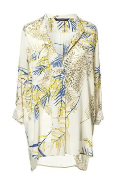 PRINTED TUNIC WITH ASYMMETRIC HEM - Tops - Woman - ZARA United States